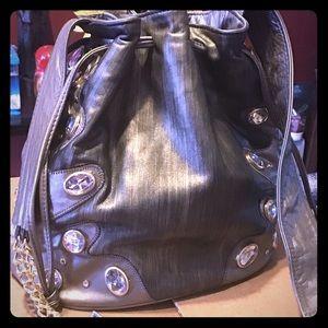 Paul Joseph Jeweled💎 Leather Bucket Bag.